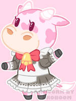 Animal Crossing Strawberry Cow Adoptable