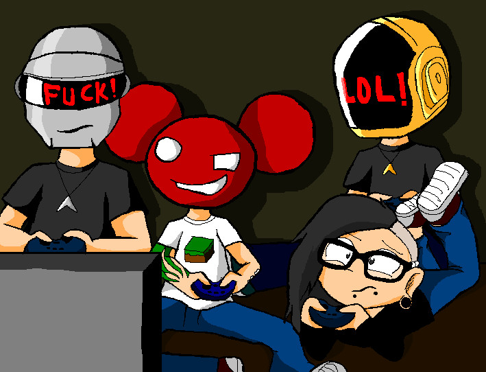 Deadmau5 Skrillex Daft Punk Comic Daft punk  deadmau5 andDeadmau5 And Skrillex And Daft Punk