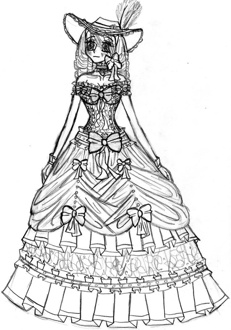 Southern belle by purplepenguinstar360 on deviantart for Southern belle coloring pages