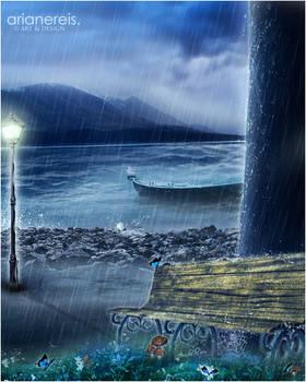 in silent rain