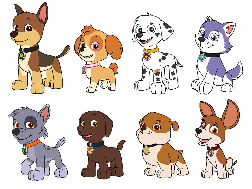 Paw Patrol Redesigned Au Vectors By Nobodyherewhatsoever