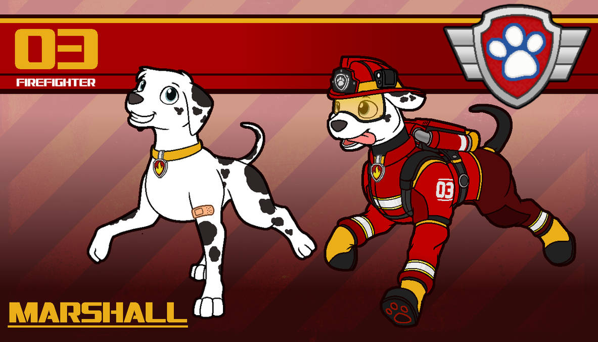 PAW Patrol 2033: Marshall by nobodyherewhatsoever on DeviantArt