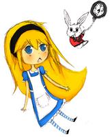 Alice and the WhiteRabbit by WhiteCoke