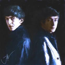 JOHN AND GEORGE IN HAMBURG