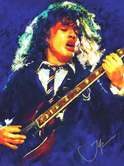 ANGUS YOUNG by JALpix