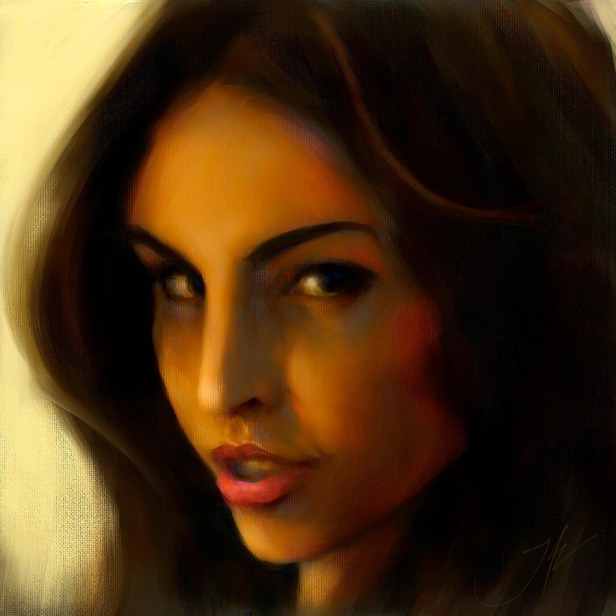 A Portrait of Lina by JALpix