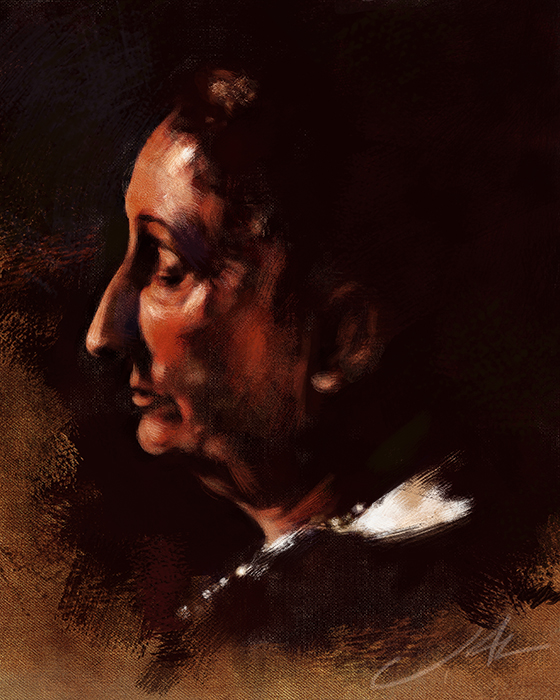 Dame Edith Sitwell by JALpix