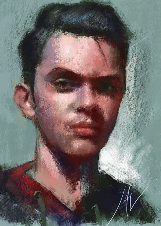 Pastel Portrait by JALpix