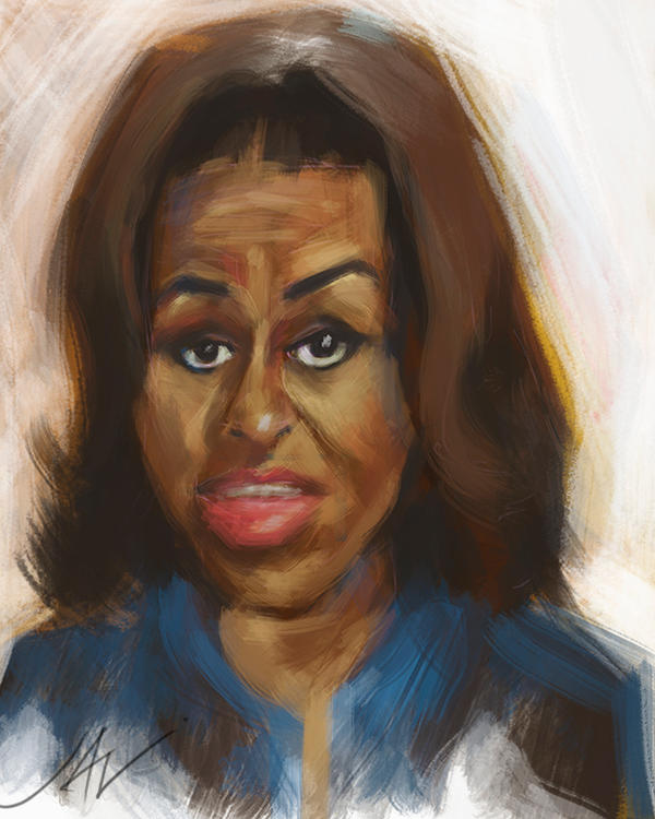 MICHELLE OBAMA CARICATURE W.I.P. by JALpix