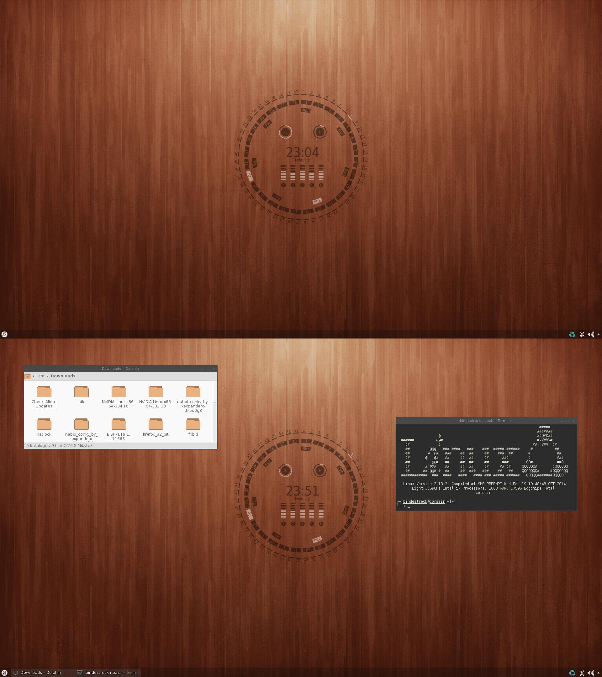 Conky Extra Slackware by xeXpanderx