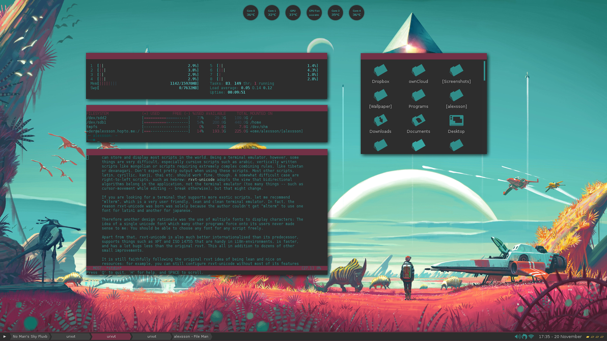 No Man's Sky Fluxbox by xeXpanderx