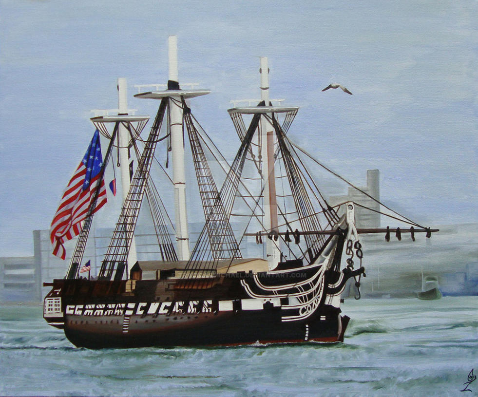 Uss Constitution Wallpaper USS Constitution by Tr...