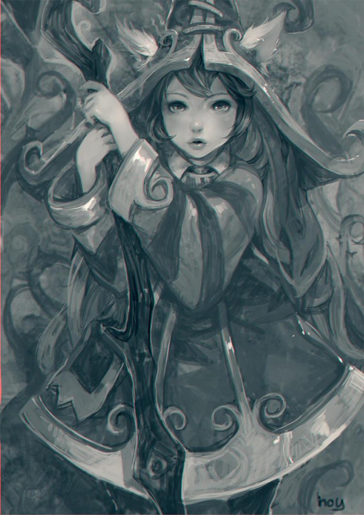 Lulu  : league of legend fanart by hoyhoykung