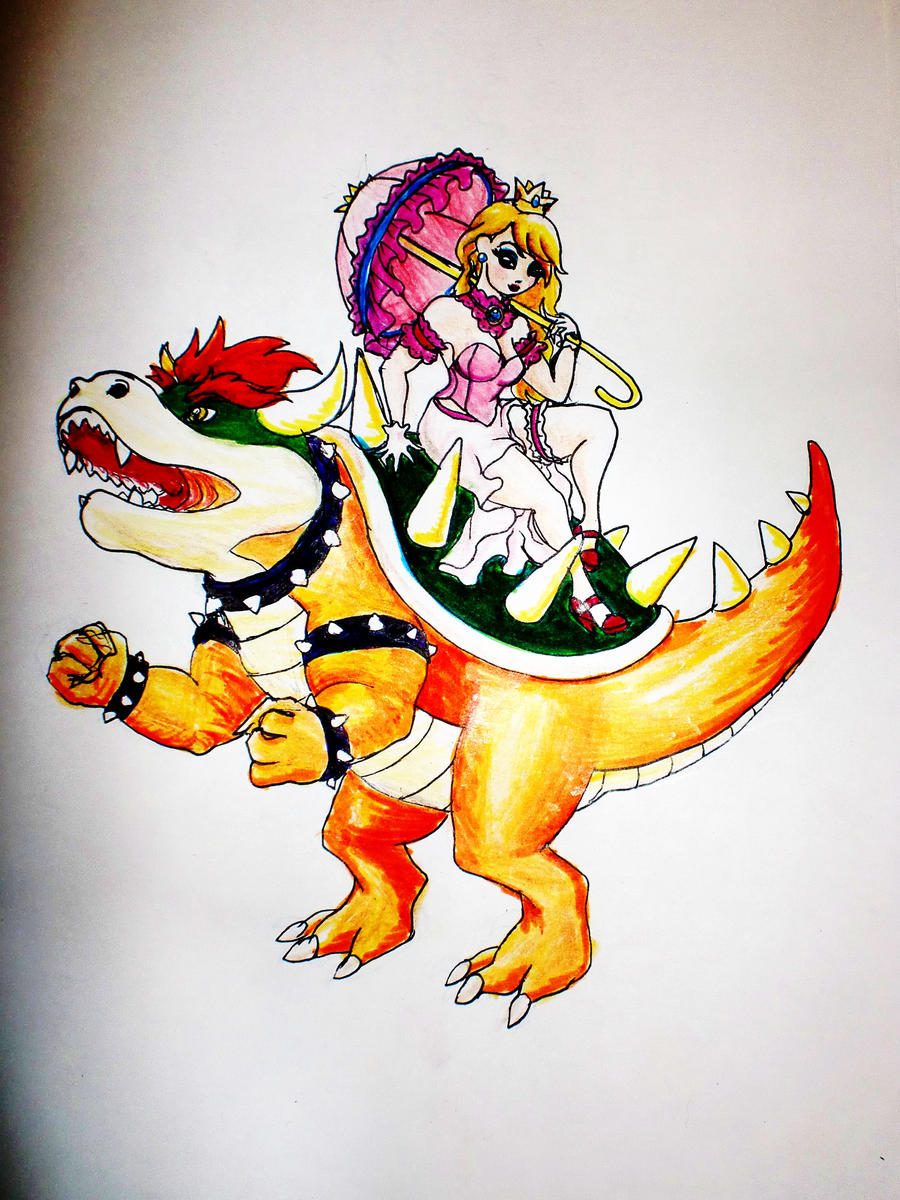 bowser and peach by spanish4ocean on deviantART