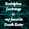 Rodolphus Lestrange . by thysilverdoe