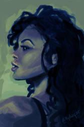 Girl Sketch 01 by Rythye
