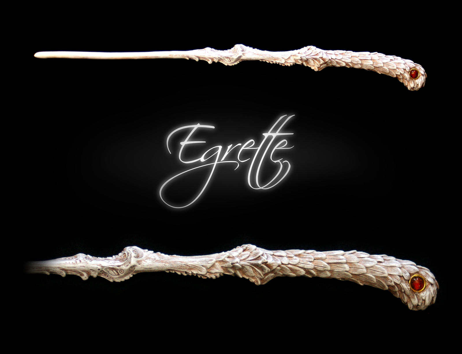 Egrette by eclectixx on deviantart for Wooden elder wand
