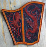 Nautical creature themed bracer WIP by Eclectixx