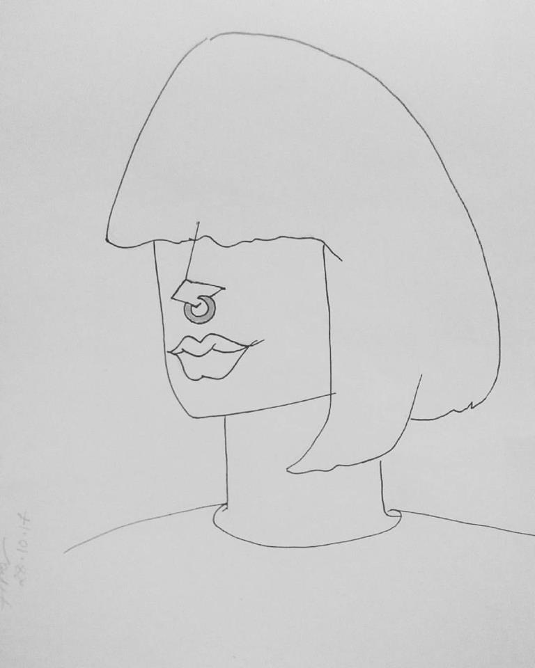 Self portrait by AfraNawar