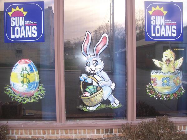 Easter Window Painting By Heroik Arts