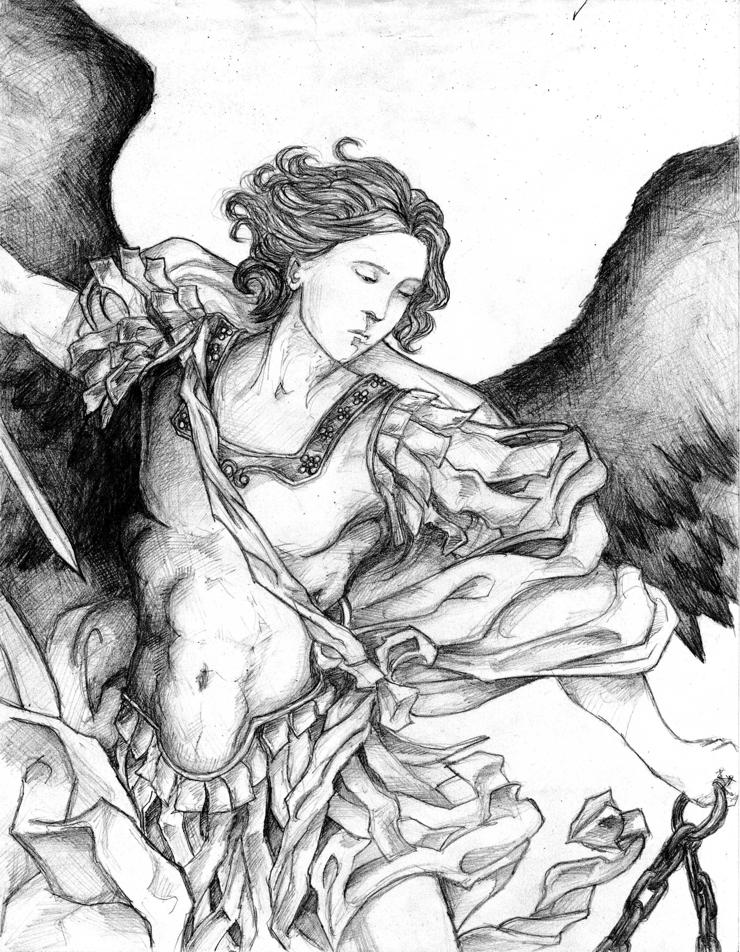 Saint Michael the Archangel Drawing