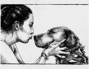 She and her dog