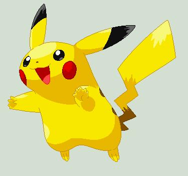 Pikachu Pixel Over by EeveePikachuChan