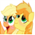 Young AJ and Braeburn Icon by EeveePikachuChan