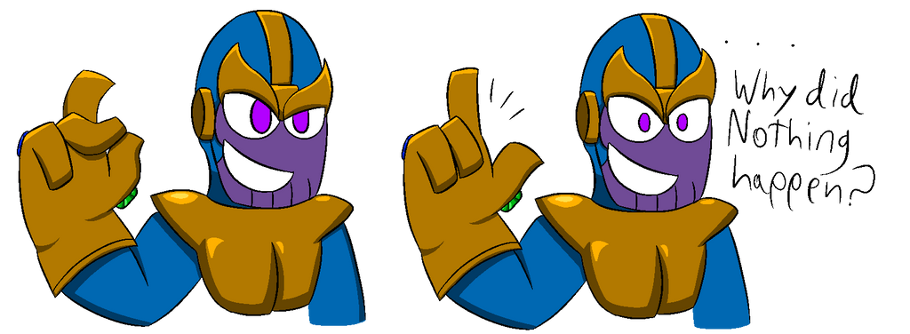 Thanos snap malfunction by darkterrastar on DeviantArt