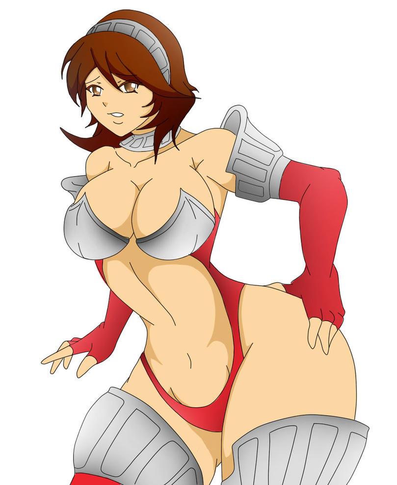 P3P: Battle Panties+Yukari by Banga-kun