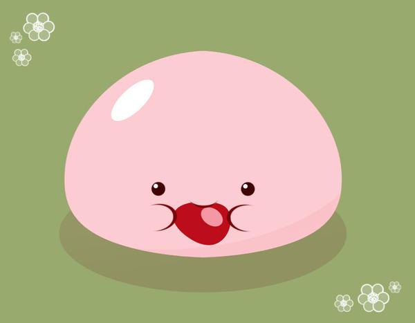 Red bean mochi by orangecircle