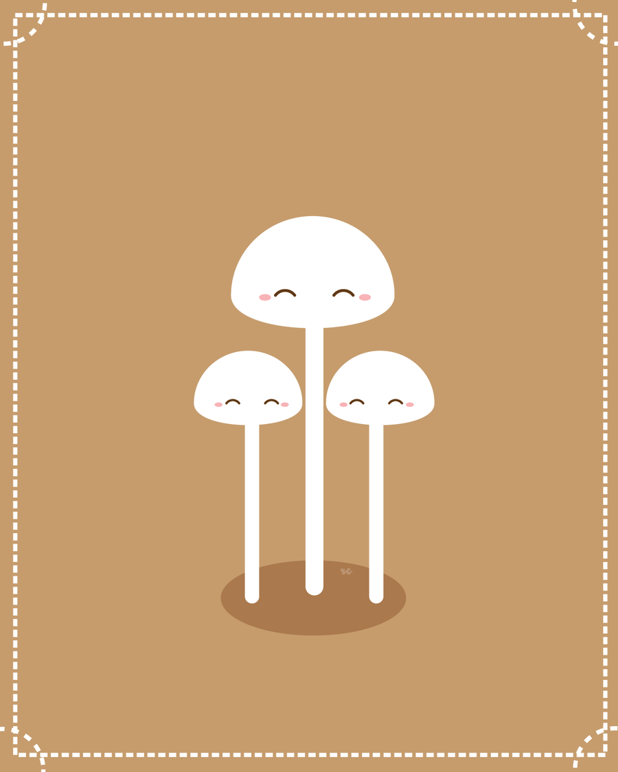 Enoki Mushrooms by orangecircle