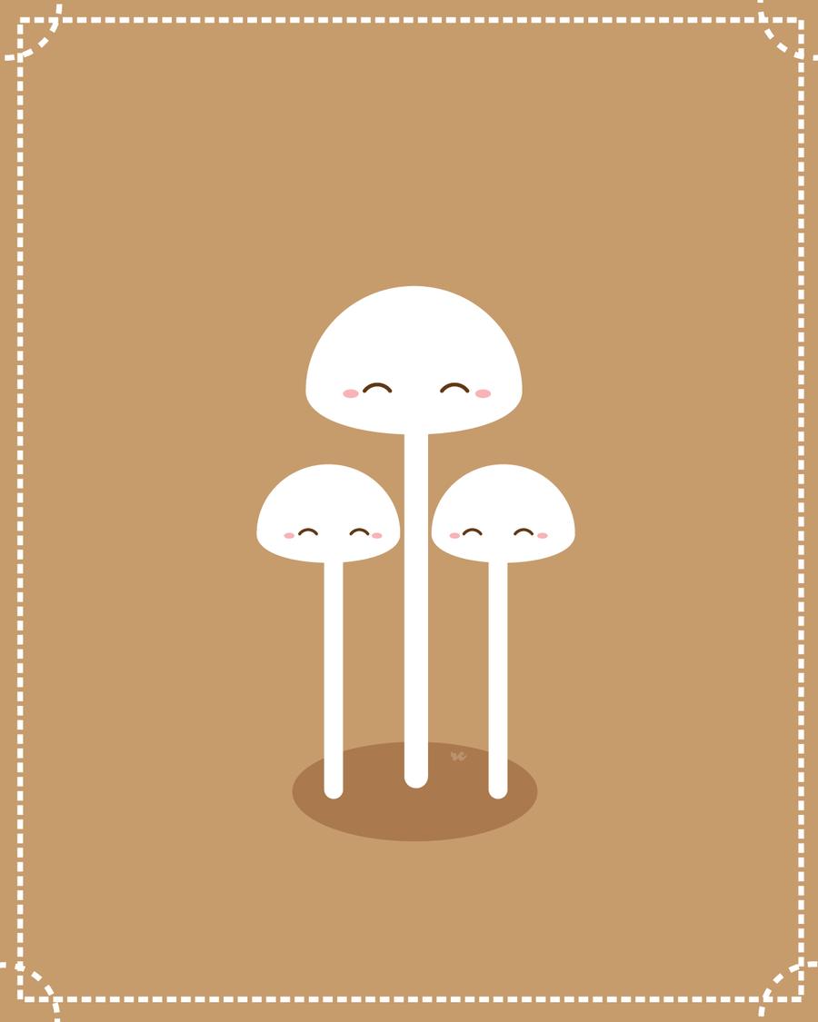 Enoki Mushrooms by orangecircle