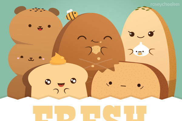 Delicious Bread by RoseyCheekes