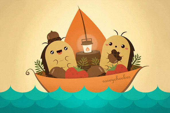 Roly Poly Bug Boat by orangecircle