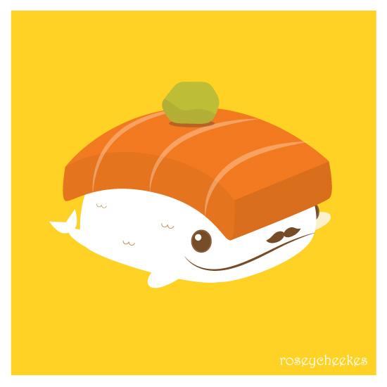 Sushi Whale by orangecircle