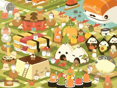Rice Buddy Town by RoseyCheekes