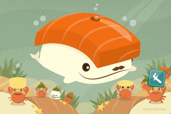 Sushi Whale FB by orangecircle