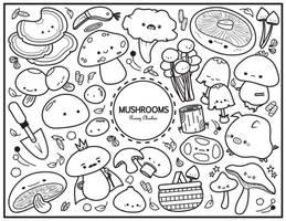 Mushroom Colouring Sheet