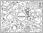 Mushroom Colouring Sheet by RoseyCheekes