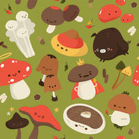 Mushroom Pattern by RoseyCheekes