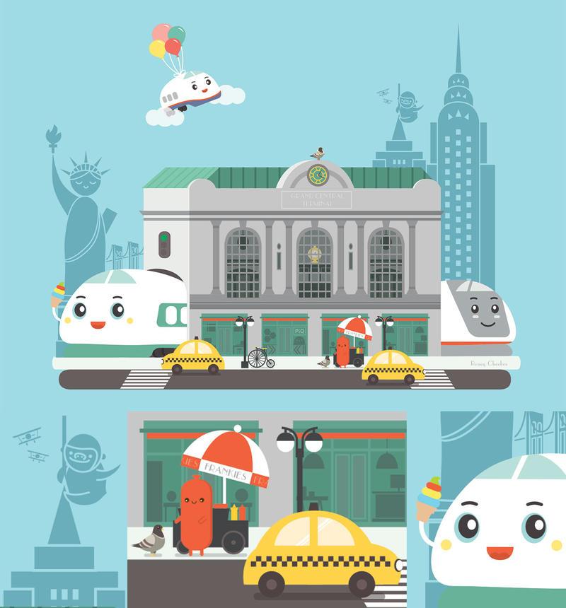 Sanrio Shinkansen in NYC by orangecircle