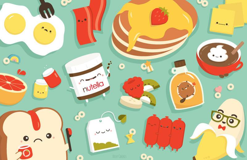 Breakfast Food by orangecircle