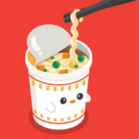 Cup Noodles Chicken Flavor by RoseyCheekes