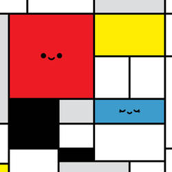 Happy Mondrian by RoseyCheekes