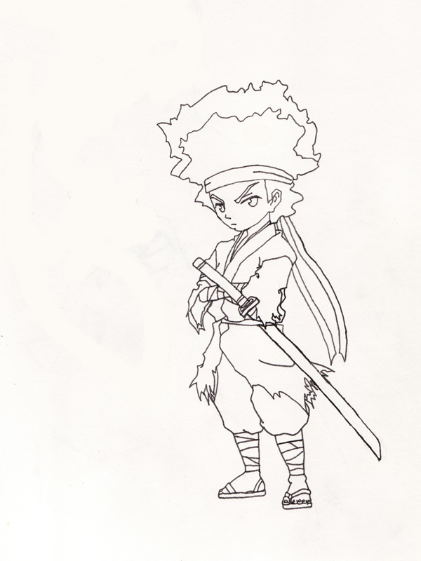 the boondocks riley coloring pages - photo#13