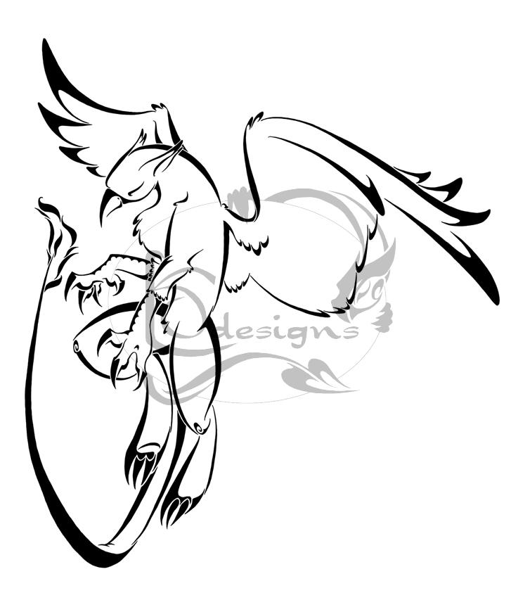 Gryphon tattoo by Lemondragon