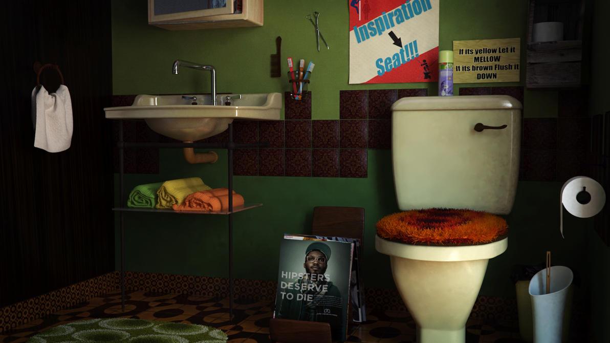 retro bathrooms by novacation on deviantart - Retro Bathrooms
