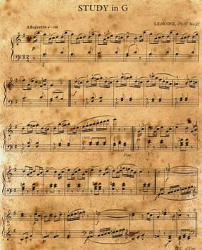 Vintage Music Sheet Stock