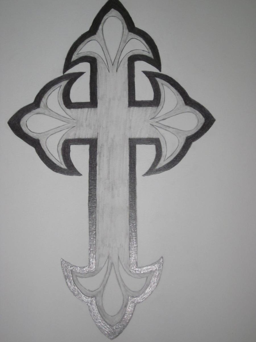 cross tattoo design by tittawen on deviantart. Black Bedroom Furniture Sets. Home Design Ideas